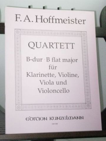 Hoffmeister F A - Quartet in B Flat for Clarinet Violin Viola & Violoncello